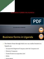 Business Forms in Uganda