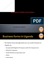 Business Forms in Uganda