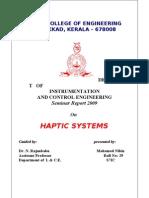23424402 HAPTICS Seminar Report