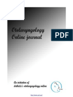 VOL 1, NO 1 (2011)  ONLINE JOURNAL OF OTOLARYNGOLOGY ISSN 2250- 0359