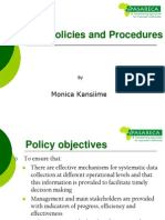 M&E Policies and Procedures Operation A Manual - Jan 2010