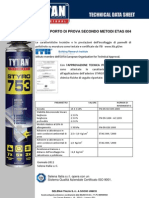 Rapporto Prova Secondo ETAG STYRO753