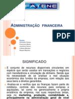 Administração  financeira apresentação andensom