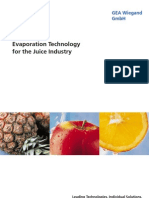 Evaporation Technology Juice Industry GEA Wiegand En