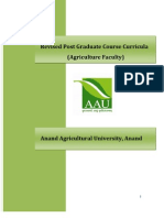 PG Course Curricula Agriculture AAU Anand