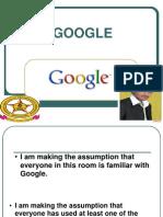 Presentation==GOOGLE1