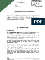 MOCIÓN DE SALUDO - FELIZ 103° ANIVERSARIO PUEBLO NUEVO DE COLÁN