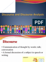 Discourse & Discourse Analysis
