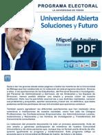 Programa Electoral Miguel de Aguilera