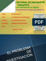 EL PROBLEMA DE INVESTIGACIÓN . Exposicion