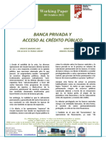 BANCA PRIVADA Y ACCESO AL CRÉDITO PUBLICO - PRIVATE BANKING AND THE ACCESS TO PUBLIC CREDIT (Spanish) - BANKU PRIBATUAK ETA KREDITU PUBLIKORAKO SARBIDEA (Espainieraz)