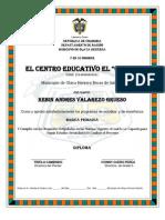 Diplomas El Cedro