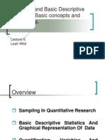 6 Sampling and Basic Descriptive Statistics