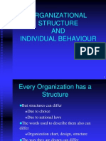 Org Structure and Individual Behaviour