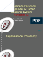 Introduction to Personnel Management & Human Resource System