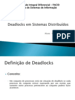 Deadlocks em Sistemas Distribuídos