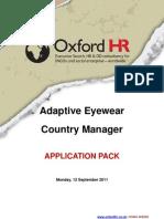 Application Pack Adaptive Eyewear 110912