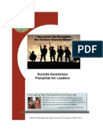 Suicide Awareness Pamphlet for Leaders
