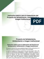 01 PRESENTACION INSTRUCTIVO SEÑALAMIENTO-2009 -PDF