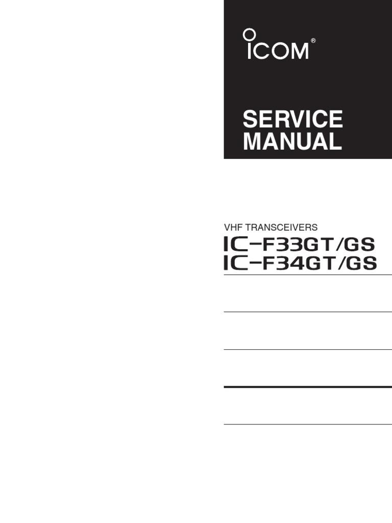F33 Service Manual Detector Radio Amplifier Divider Indexes 2721