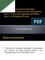 Aulas 2, 3, 4, 5 - Skinner, Piaget, Vygotsky, Wallon e Freud
