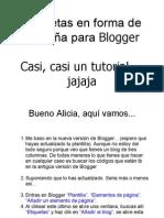 Agregar Etiquetas y Solapas en Blogger