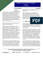 ATSDR CDC Public Health Statement Lead - Copy