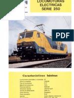 Locomotoras electricas serie 250
