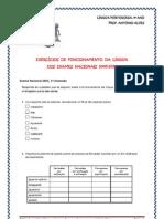 Func. da Língua nos Exames Nacionais 2005-2010