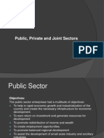 Public, Private and Joint Sectors