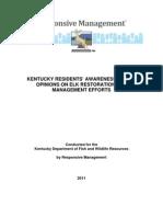 Kentucky Elk Restoration and Management Efforts