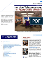 Highly Immersive Telepresence Research Brief