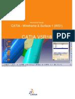 CATIA - Wirefram & Surface 1 (WS1)