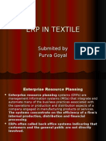 Erp in Textile
