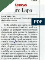 Álvaro Lapa.  Retrospective, Por. Visao, 22. 09.1994