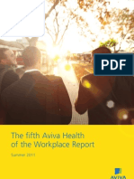 Aviva Health of the Workplace Report - Summer 2011