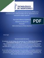 Impacto del uso de pizarrones electrónicos (PEIS) en la enseñanza de la tabla periódica de los elementos en la educación media superior