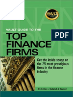 Vault Guide to Top Finance Firms