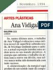 Ana Vidigal.  Por.  Visao, 3 Nov. 1994