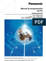 Manual de Programacion Del PC Central Pura Ip Panasonic KX-TDE100 KX-TDE200 KX-TDE600