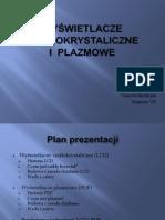Wyświetlacze  LCD i PDP