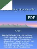 Substantele minerale utile
