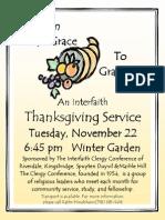 An Interfaith Thanksgiving Service