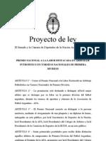 Proyecto de ley Premio Al Mejor Arbitro