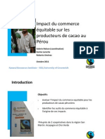 Impacto del comercio justo en los productores de cacao en Perú