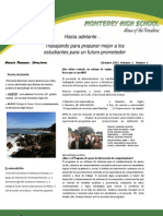 Newsletter, October, 2011, Volume I, Issue I (Spanish)