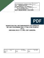 Procedimiento Para La Remocion Del Recubrimiento de Asbesto CD-1