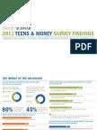 2011 Teens & Money Survey Findings