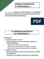 La Résistance Bactérienneaux Antibiotiques