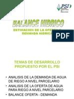 Balance Hídrico - Ing